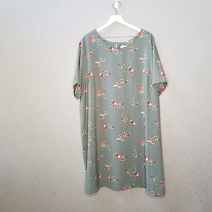 Ava and Viv olive green floral dress size 3x
